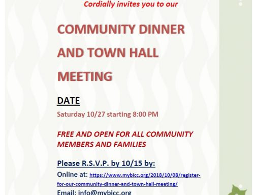 Register for our Community Dinner and Town-Hall Meeting